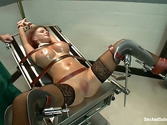Busty MILF tied up and hardcore fucked like a slut